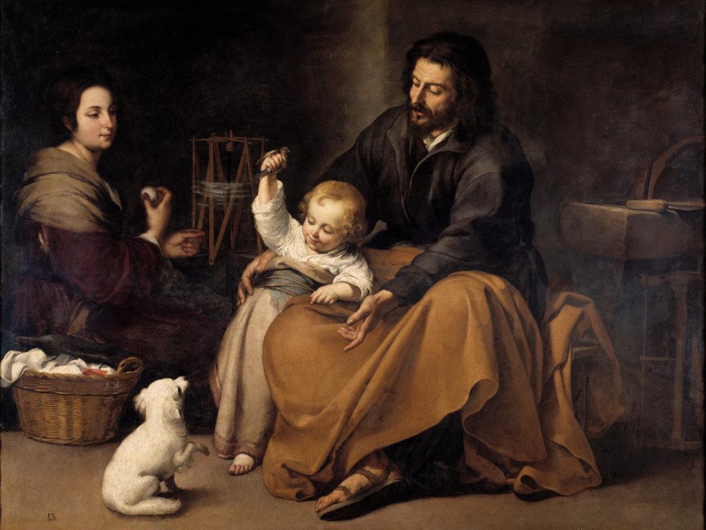 Sacra Famiglia dell'uccellino di Bartolomé Esteban Murillo