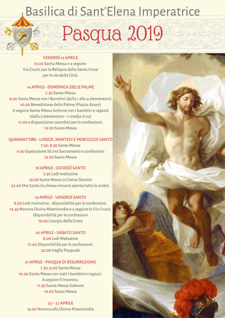 pasqua-2019-basilica-sant-elena-imperatrice-programma