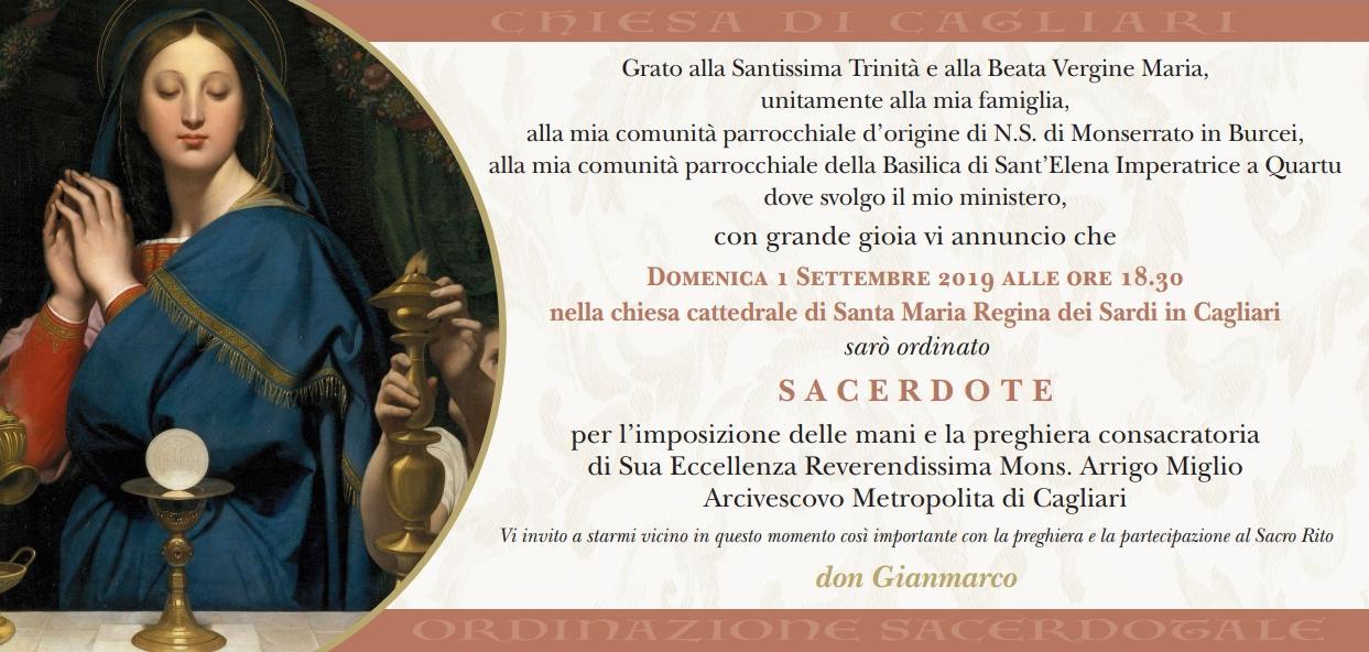 Ordinazione Sacerdotale don Gianmarco Lorrai