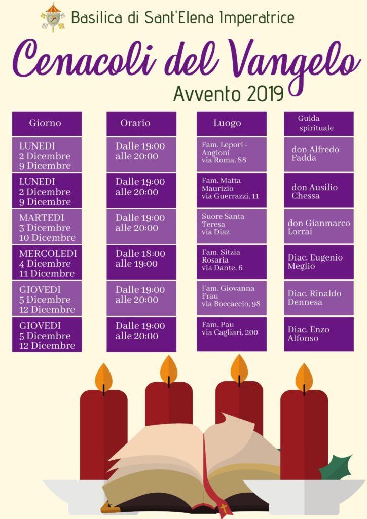 Cenacoli del Vangelo Avvento 2019