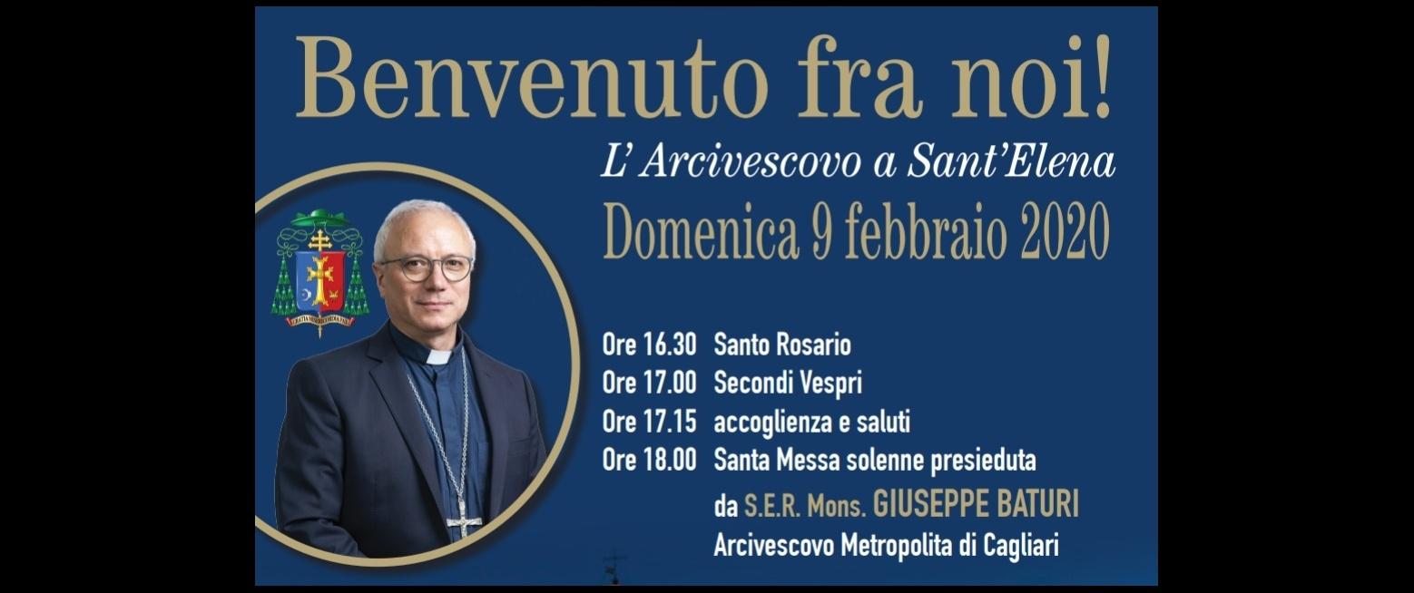 L'arcivescovo Giuseppe Baturi a Sant'Elena